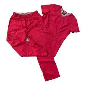 Dickies Essence Straight Leg Scrub Set - Hot Pink